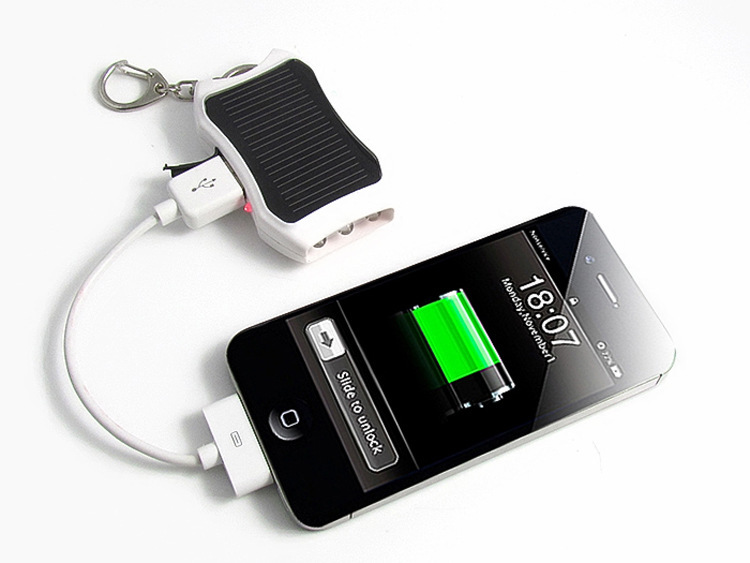 Hot Sale 1200mAH Solar Keychain Solar Charger Mobile Power Supply Energy Saving Charger/Battery Pack Power Bank For Cellphone(China (Mainland))