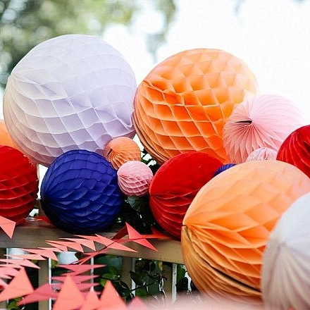 Buy wholesale 15cm 1000pc tissue paper honeycomb balls decorative hanging ball - Hanging paper balls decorations ...
