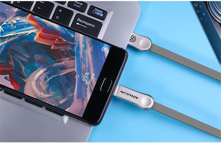 NILLKIN Plus III Micro to Type-C USB Charging Cable Data Line For Note 7 Xiaomi Mi5 Mi 4s OnePlus 3 Nexus 5X 6P MEIZU MX6 Zuk z2