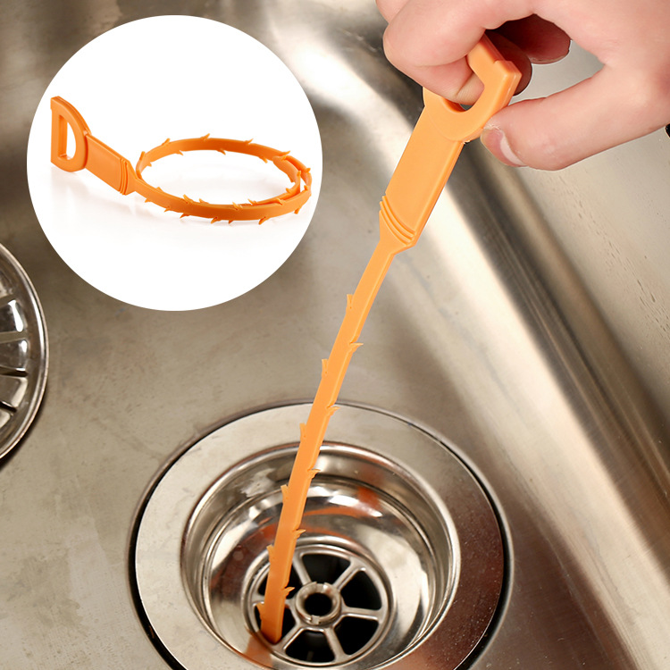 3Pcs/Lot Hot Sell The Drain Clogs Cleaner Sink Plumbing Cleaning Small Clean Hook Clean The Sink To Collect Hook F1647(3)(China (Mainland))