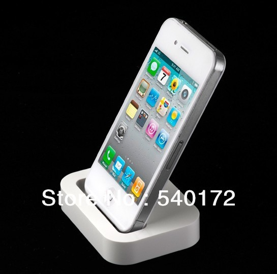 For Apple iPhone 4/4S 3GS universal charging base, the base charge, Dock bracket base charger 20PCS+Free shipping(China (Mainland))