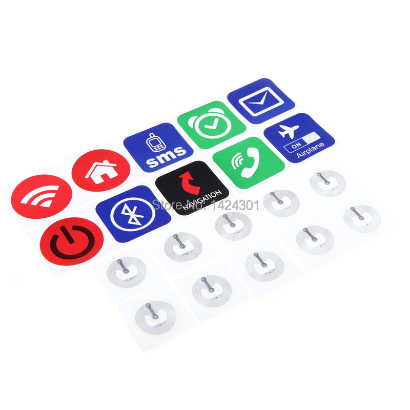 (10pcs) NFC Sticker Tag RFID Tags Ntag203 Chip All NFC Phones Compatible After Install Software(China (Mainland))