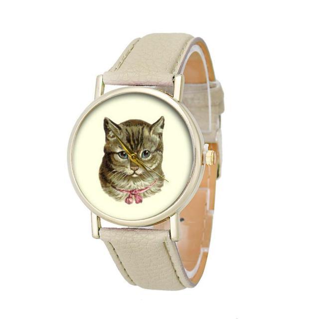 Cute Cat Pattern Watches