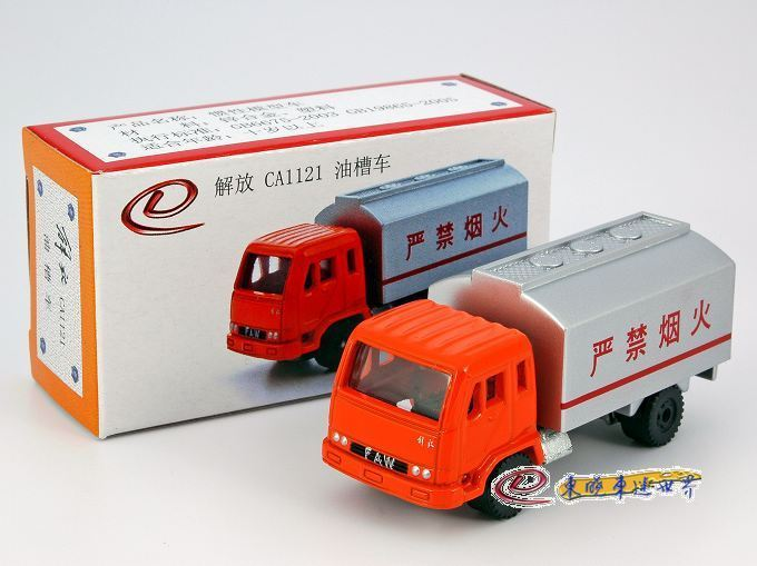 Domestic classic alloy car models 1 : 100 ca1121 oil tank truck original packaging(China (Mainland))