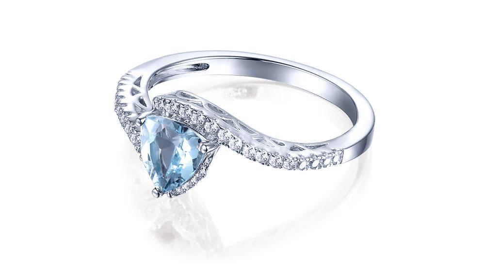 silver blue topaz rings CASR01612SC-1 (3)