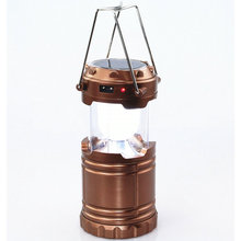 Portable Waterproof Solar Camping Light Lantern Ultra Bright Camping Stretchable Lantern Rechargeable Emergency LED Tent Light(China (Mainland))