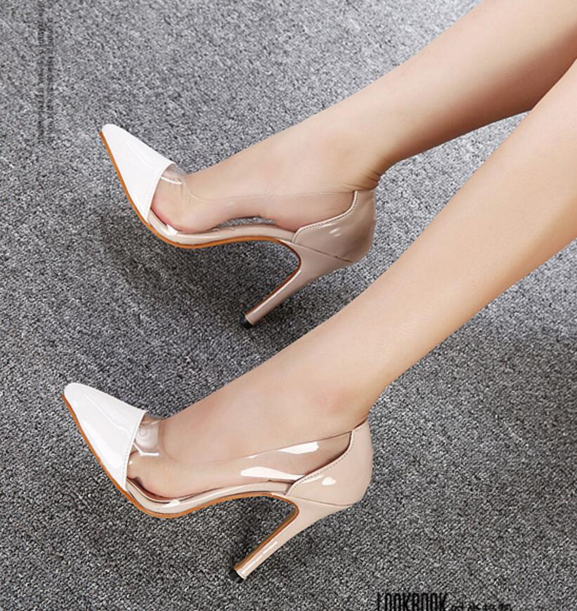 2016 new fashion Women shoes transparent thin pointed high heels white shallow mouth wedding pumps 1029 - Hangzhou Dolda Tech. Co., Ltd. store
