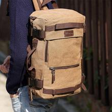 2015 100 Canvas Travel Backpack Men Multifunctional Tactical Backpack for Men s Travel Mochilas Masculinas Rucksack