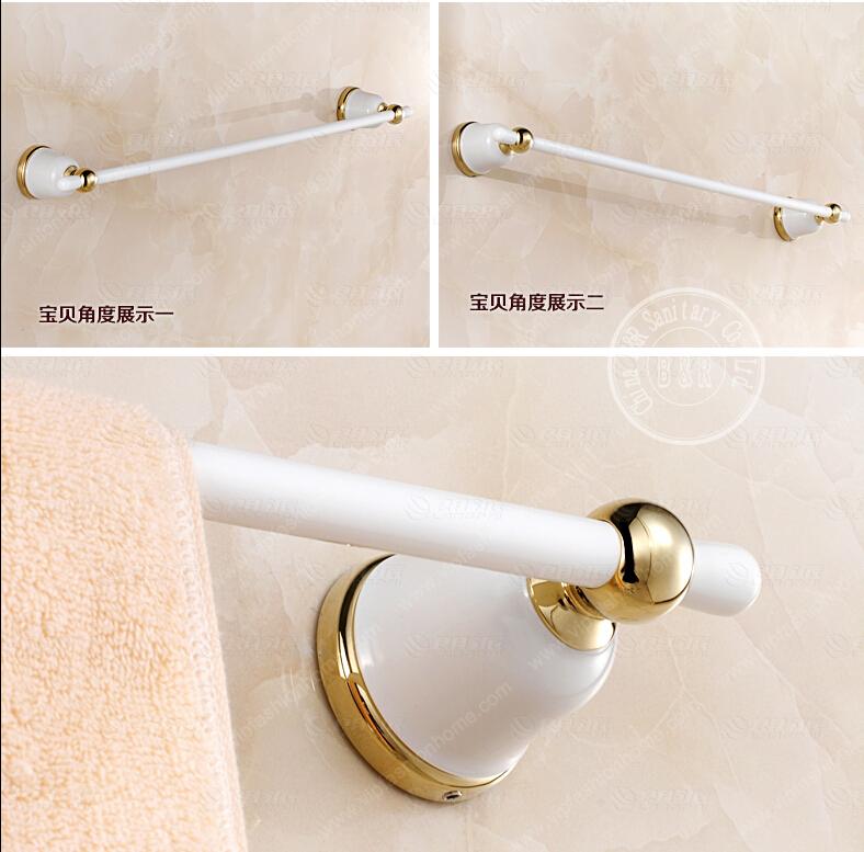 becola white bath towel bar bathroom towel rod single rod blue and