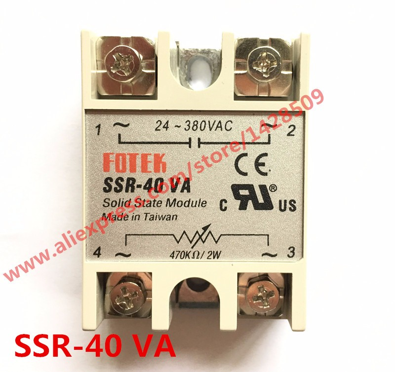 High Quality 1 Piece Resistance Type Voltage Regulator Solid State Relay SSR-40VA 470K Ohm 2W TO 24-380V AC SSR