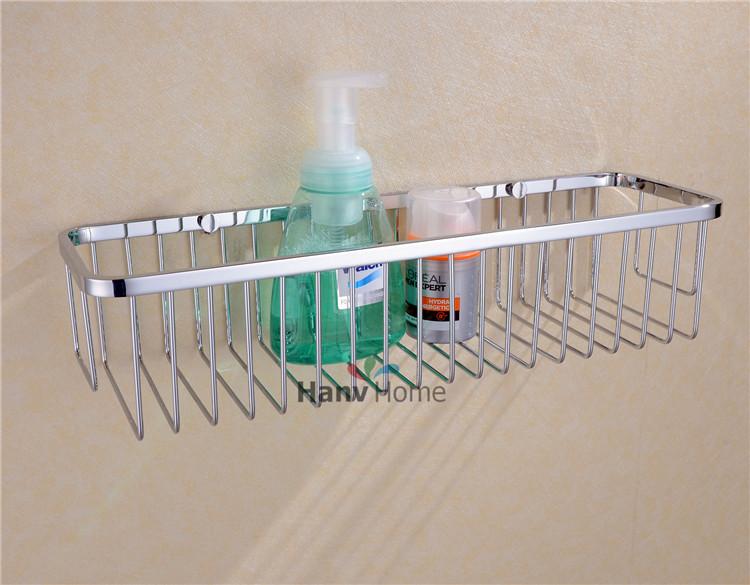 Bathroom Basket shelf Stainless Steel Bracket Shelves storage bathroom shower caddy ,Free Shipping 09-002(China (Mainland))