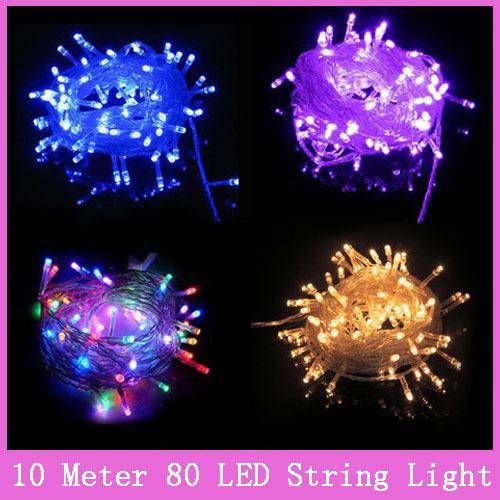 led string light 10M 80led AC220V colorful holiday led lighting waterproof outdoor decoration light christmas light<br><br>Aliexpress