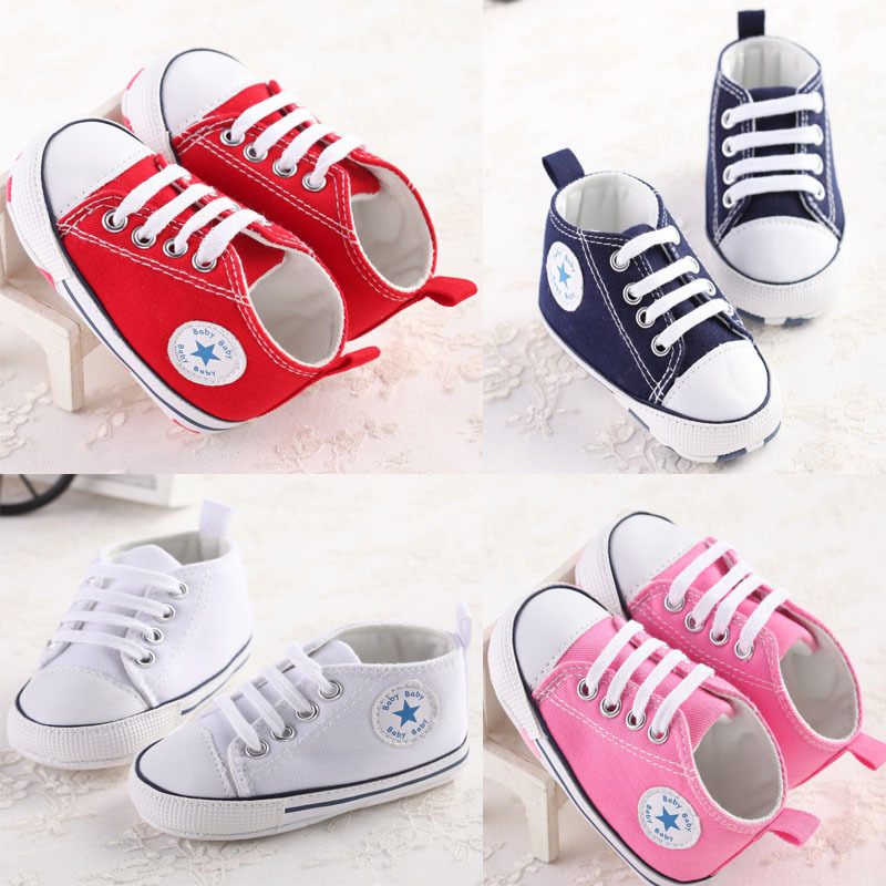 1 Pairs baby shoes Brand Newborn baby Girls shoes Boys Kids Sports Sneakers Infant Sapatos Newborn Prewalker Canvas Shoes(China (Mainland))