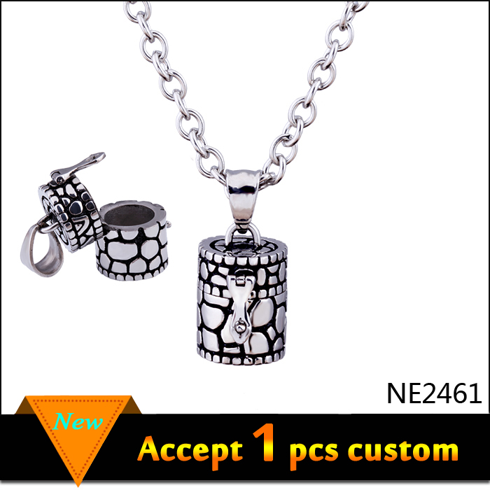 antique plated Prayer Box Necklace Locket Little Tiny Wish Box Locket Silver Gold Cremation Memorial Open Pedants Necklaces(China (Mainland))