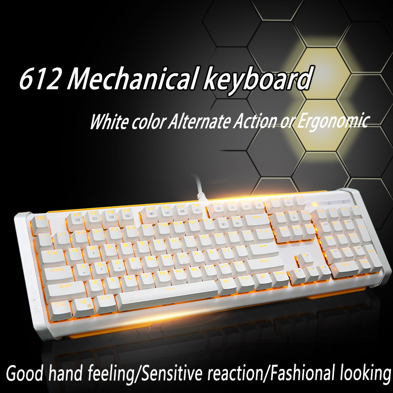 Jamesdonkey 612 Mechanical Keyboard 104 MX black blue red brown switches Backlight Gaming Keyboard For Laptop PC Computer office(China (Mainland))