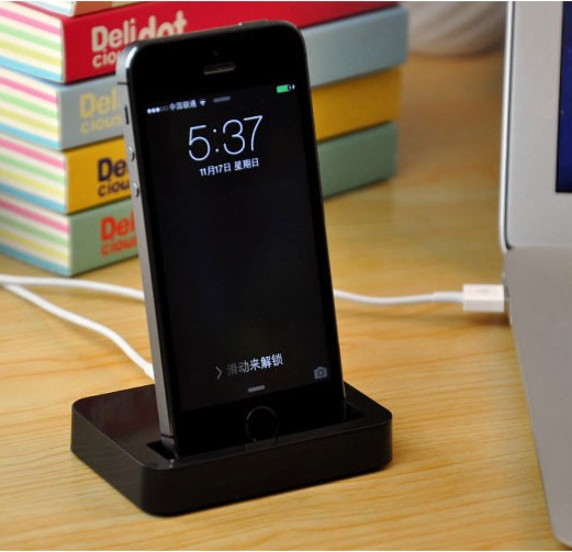 White & Black Data Sync Charging Charger Adapter Stand Station Dock for iPhone 5 5s 5C 6 6P 50pcs/lot(China (Mainland))