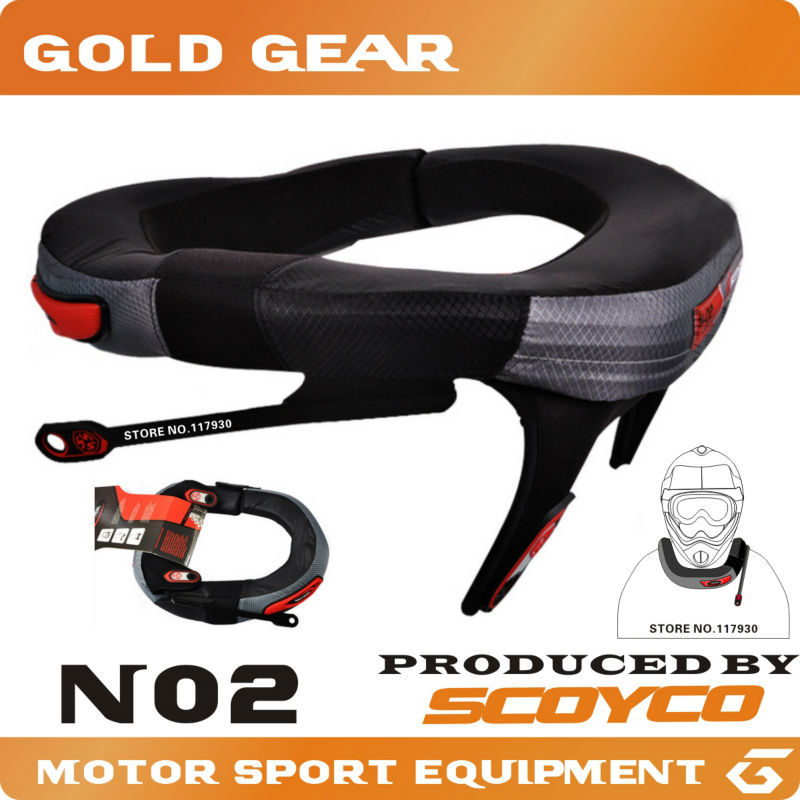 Protective Gears>> SCOYCO Motorcycle Neck Protector High Quality Sports Gear Long-Distance Racing Protective Neck Brace support(China (Mainland))