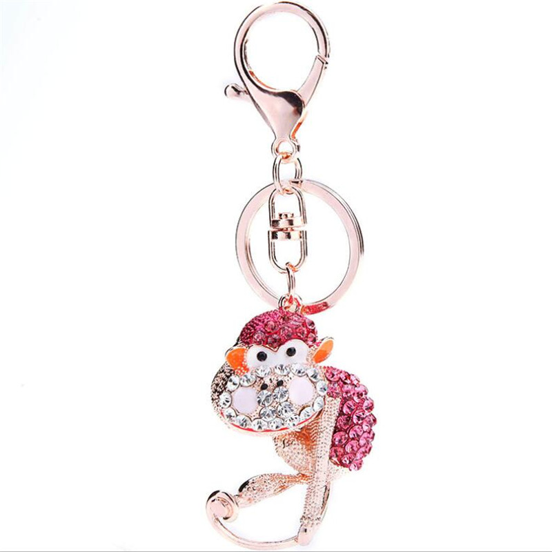 Cute Keychain Monkey Pendant Accessories Key Chain Orangutan Toy For handbag Messenger Bag Purse Keyring Pendant 2016 Wholesale(China (Mainland))