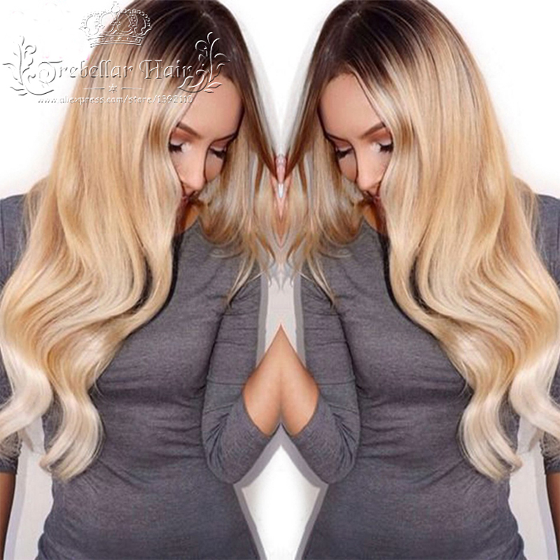 Human Hair Wigs Glueless Full Lace Ombre Lace Front Human Hair Wigs Brazilian Ombre Human Hair U Part Wigs For Black Women(China (Mainland))