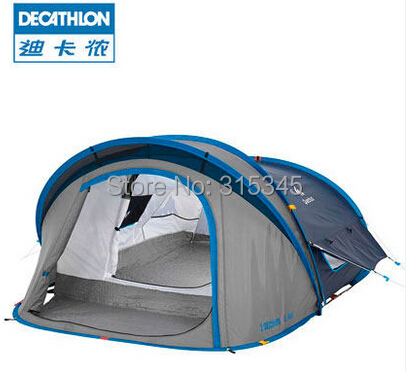 Quechua Waterproof Pop Up Camping Tent 2 SECONDS XL AIR II Polyester Fabric Camping Tent /Dome Tent(China (Mainland))
