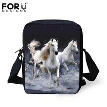 FORUDESIGNS Designer Women Men Messenger Bags Crazy Horse Printing Shoulder Bag Girls Cross Body Bag Messenger-Bag for Woman(China (Mainland))