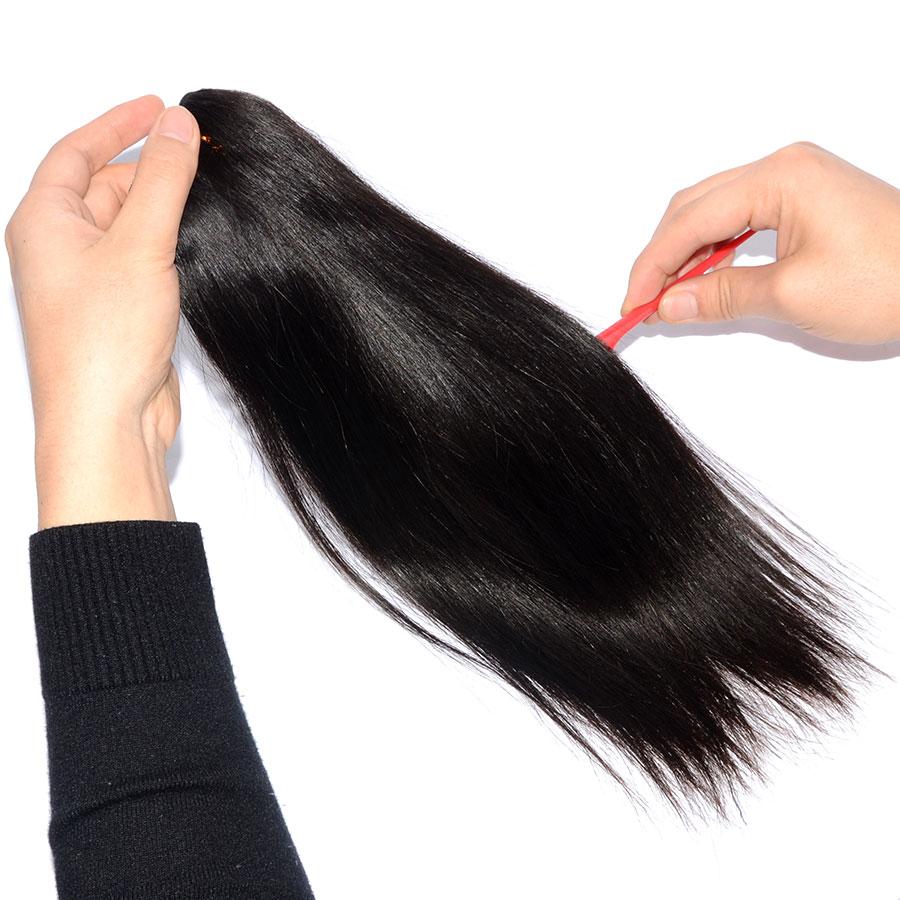 Sunnymay Straight Brazilian Virgin Hair Weaving Natural Color Human Hair Bundles Machine Made Weft 1 Piece Free Shipping