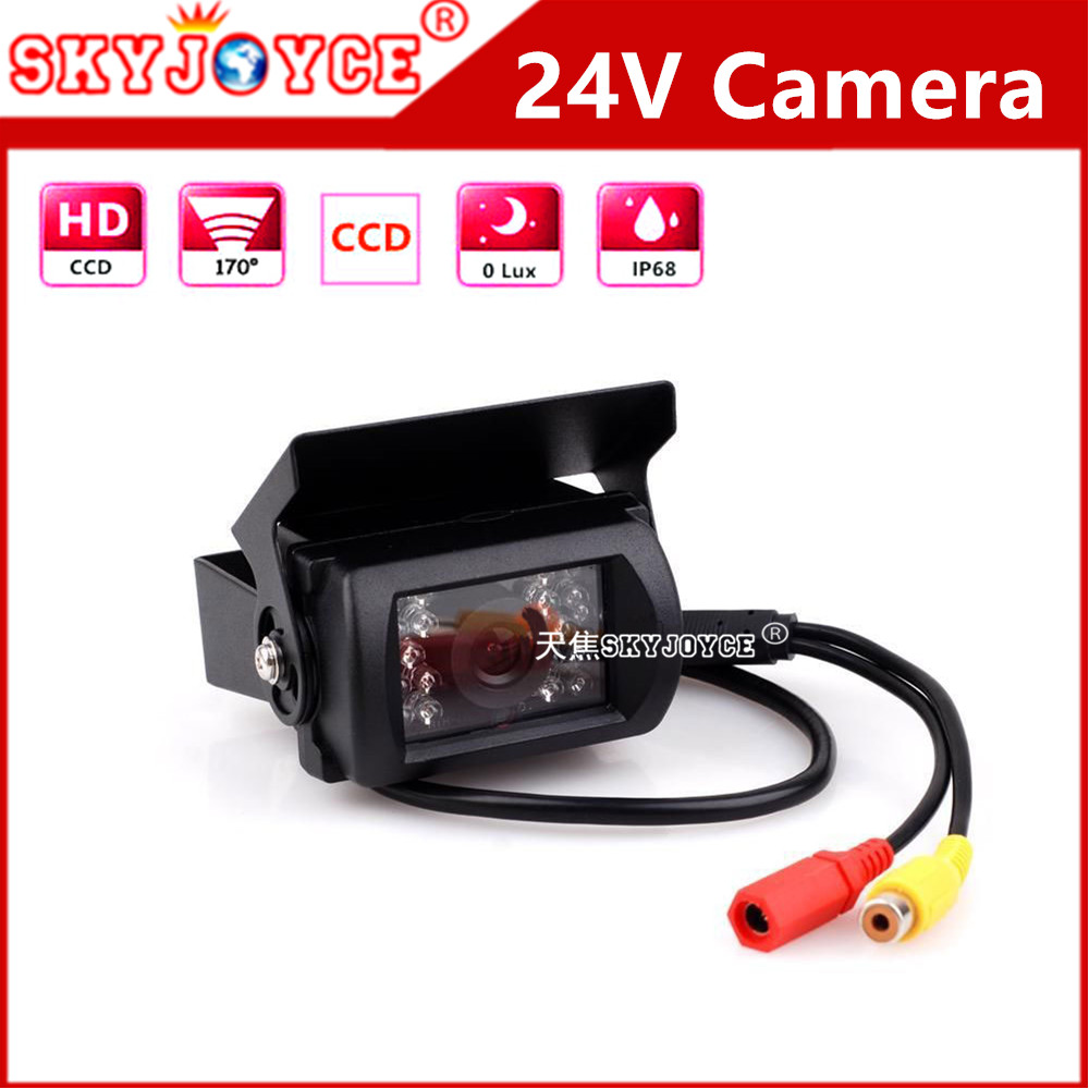 DC12 DC24V Car Parking Camera rearview IR Nightvision Waterproof Rear View Camera With 15M RCA Video Cable Bus Truck Camera 24V(China (Mainland))