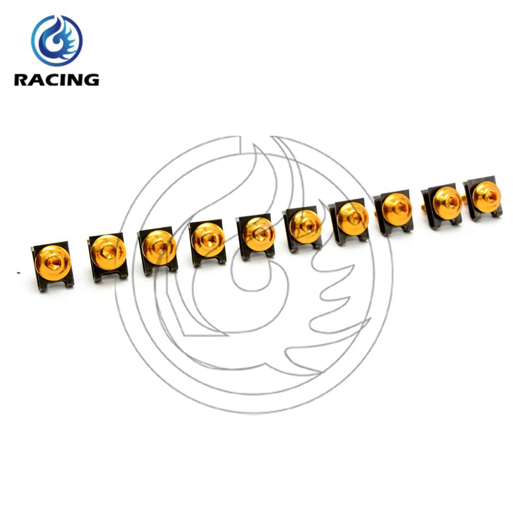 6mm Motorbike Screws golden For KAWASAKI ZX6R 1998 1999 2000 2001 2002 2003 2004 2005 2006 2007 2008 2009 2010 2011 2012(China (Mainland))