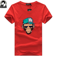 Buy Men Summer cool T-Shirts Cotton Plus Size 5XL Tees monkey print Short Sleeve Men's T Shirts Male TShirts Camiseta Tshirt Homme for $5.55 in AliExpress store
