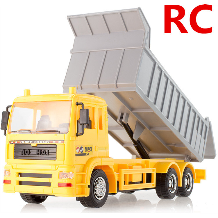 1:24 Remote Control Dumpers,Wireless control, 7 channel engineering Dumpers, electric vehicles toys,Luminous model,free shipping(China (Mainland))