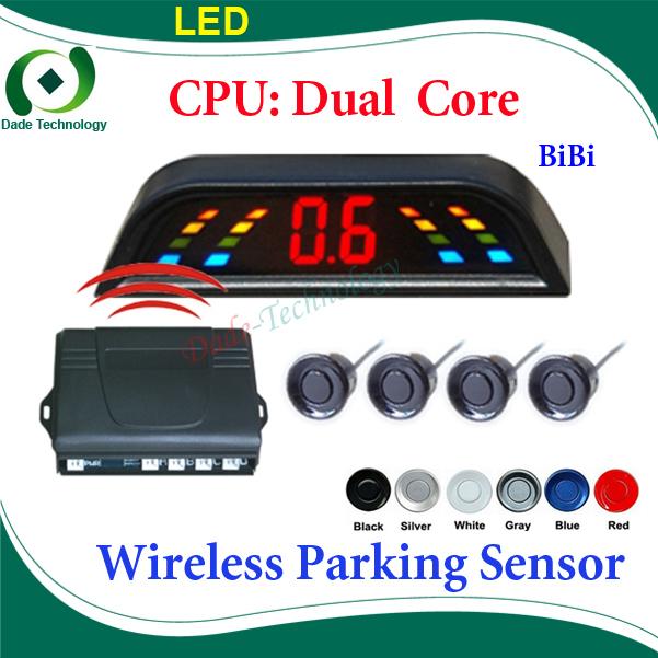 Wireless Car Parking Sensor Reverse Backup Radar System, Auto Reversing Detector, Dual Core CPU(China (Mainland))