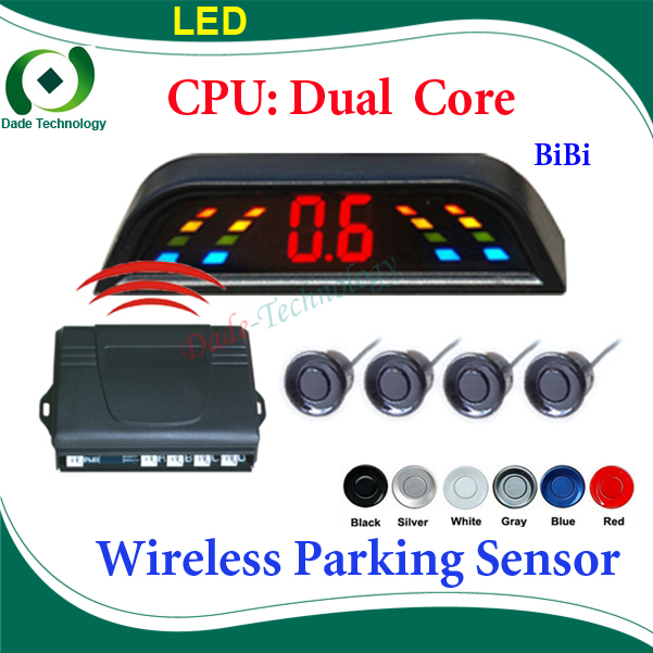 Wireless Car Parking Sensor Reverse Backup Radar System, Auto Reversing Detector, Dual Core CPU(China (Mainland))