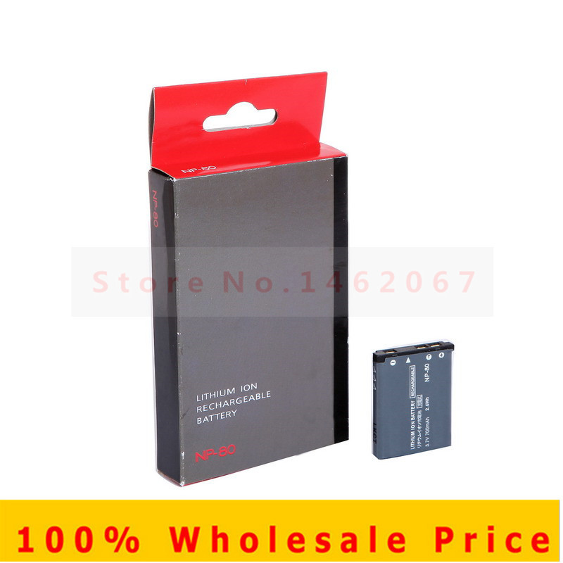 2PCS NP-80 CNP80 NP80 Camera Battery for CASIO EX H5 H50 ZS150 ZS5 Z28 N1 N20 JE10 MR1 Z800 S5 ZS6 S7 S8 R300 N10 N2 ZS5 Z1 Z2(China (Mainland))