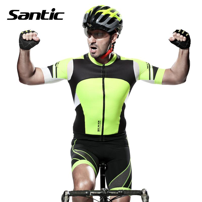 Santic Cycling Jersey Cycling Sets Outdoor Sports Racing Bike Clothes MTB Jersey 4D Pad Elastic Shorts Suit Roupas De Ciclismo<br><br>Aliexpress