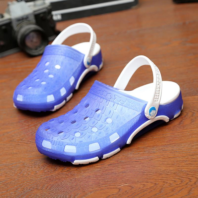 product 2015 New Arrival summer casual hole Men's beach shoes fashion breathable mesh sandals couple slippers for men women sandales