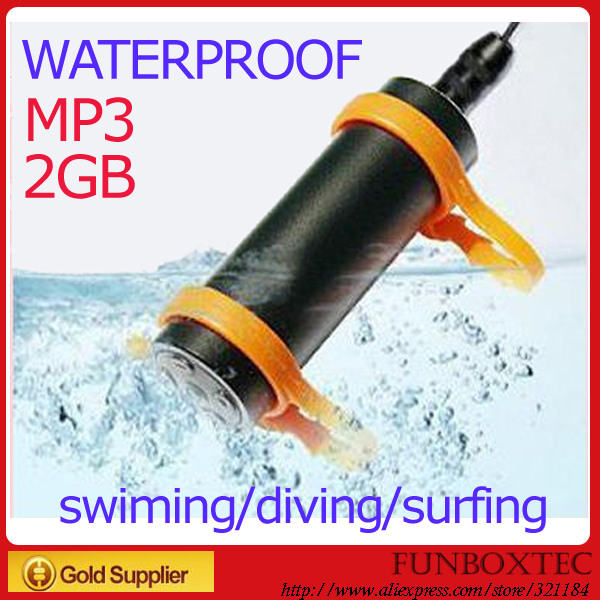 Free shipping Nu Dolphin 2GB water resistance waterproof swimming MP3 music player with earplugs & arm band with retail package