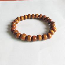 2019 chaude bracelet Ethnique style en bois perle bracelet extensible tour petit perles pour femmes et hommes bijoux couleurs chaîne bracelet(China)