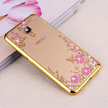 Buy Meizu M3s M3 S M 3 3S Case m3s mini Flower Silicon Bling Diamond Soft TPU Clear Back Cover Coque Meizu m3s mini Cases for $1.99 in AliExpress store