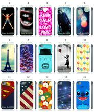 Mobile Phone Case New 1PC Colorful Ballon Eiffel Tower Hybrid Design Protective White Hard Case For Ipod Touch 5th Free Shipping