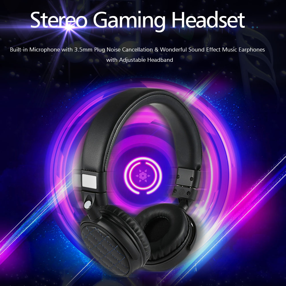 Professional Gaming Headphone  Built-in Microphone with 3.5mm Plug Wonderful Sound Effect Music Earphones for  Laptop<br><br>Aliexpress