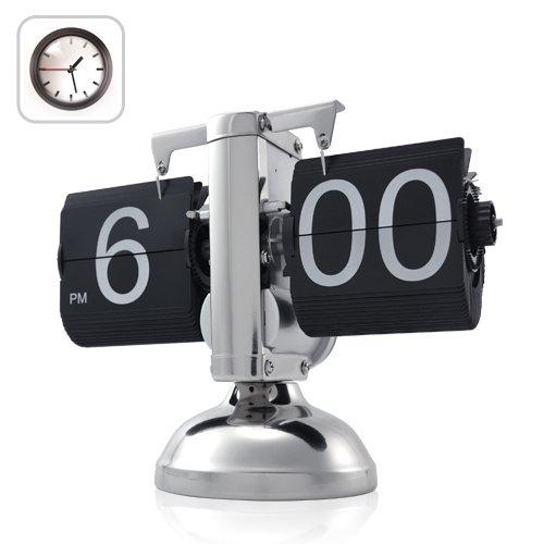 Retro Flip Down Clock , Internal Gear Operated,Black(China (Mainland))