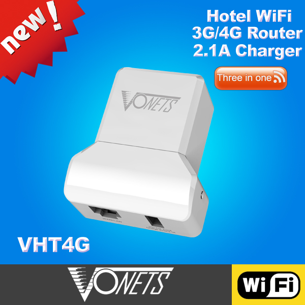 2015 VONETS VHT4G 300Mbps 2.4G WIFI router 3g 4g router with 2.1a usb adapter(China (Mainland))
