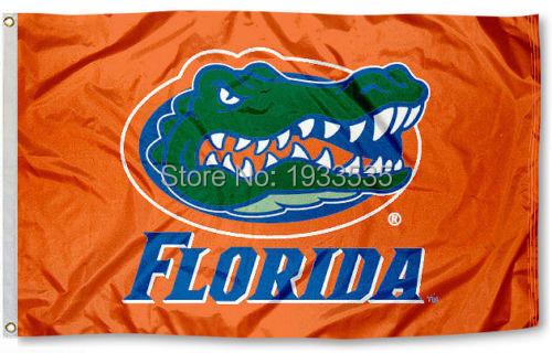 Florida Gators Flag UF Orange Large Outdoor Banner Flag 3' x 5' NFL MLB Fan Flag Banner brass metal holes Flag(China (Mainland))