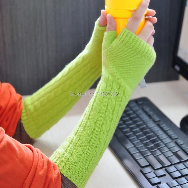 Вязания перчаток без палец 47