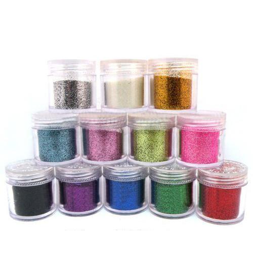 12 x Acrylic Glitter Powder for Nail Art Tips Design ,Dust Powder US Fast Shipping(China (Mainland))