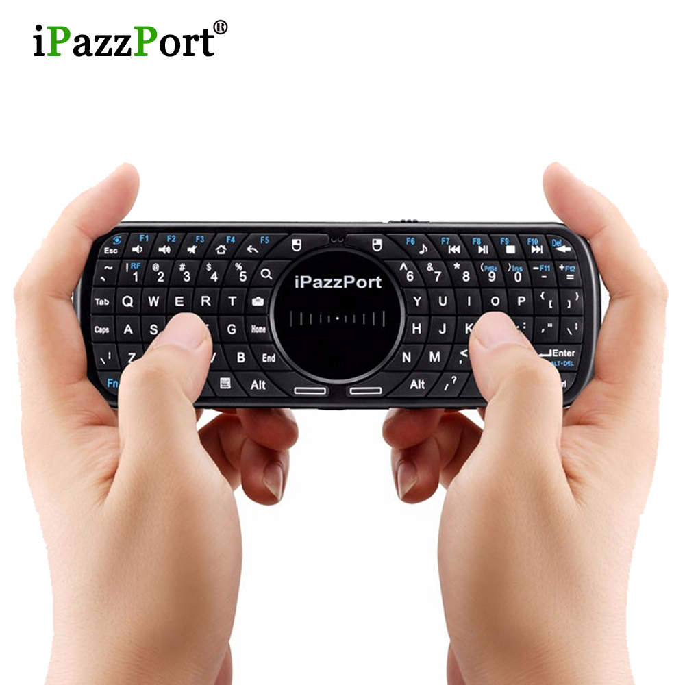 2017 High Quality wireless Mini Silicone Buttons Touchpad QWERT Keyboard fly air mouse for Windows Android tv box free shipping(China (Mainland))
