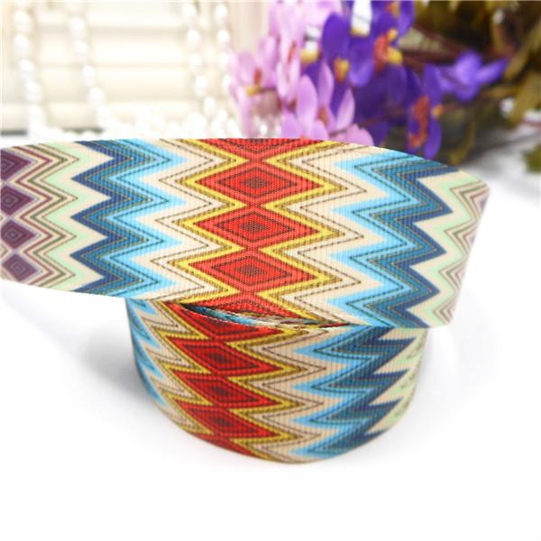 "IuBuFiGo ribbon 7/8""(22mm) Wave Rainbow Printed Grosgrain Ribbon DIY handmade stain ribbons 10 yards/roll X-2118 Free shipping(China (Mainland))"