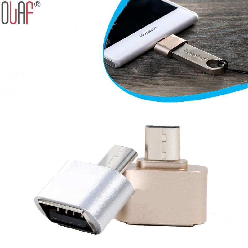 Metal Mini Micro USB OTG to USB Adapter Micro USB Male OTG to USB Female Adapter for Samsung XIomi LG Sony TCL Huawei(China (Mainland))