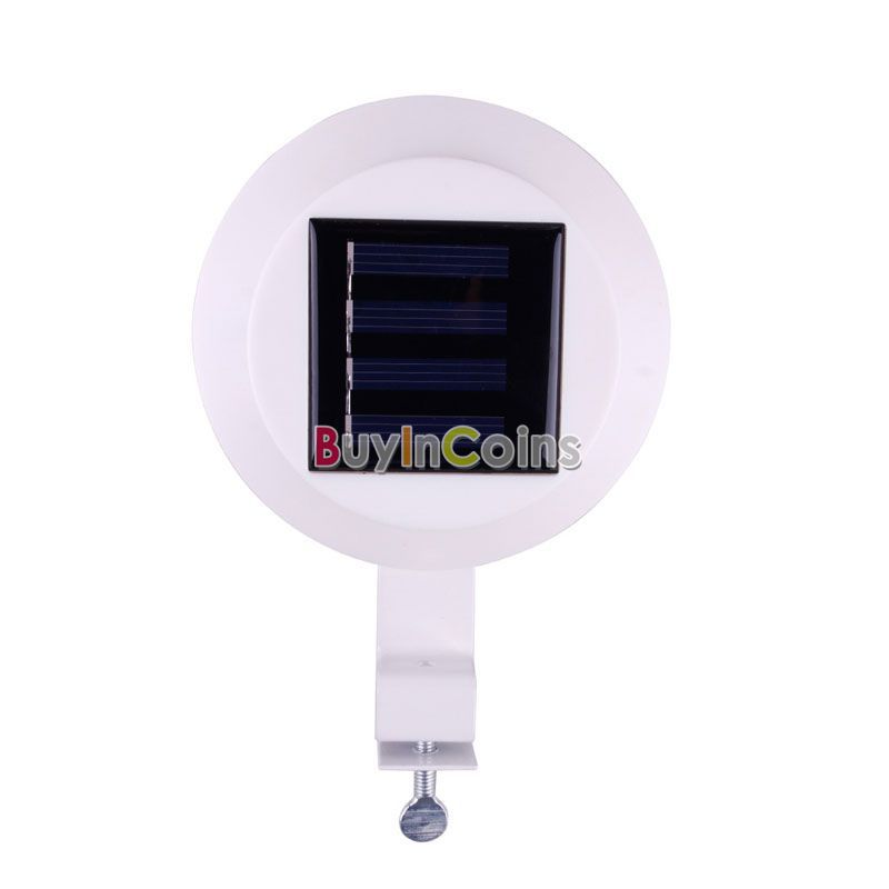 Gutter Fence 3 LED Solar Powered Light Outdoor Garden Decoration Wall Lobby Lamp White Color Waterproof US AS #30493(China (Mainland))