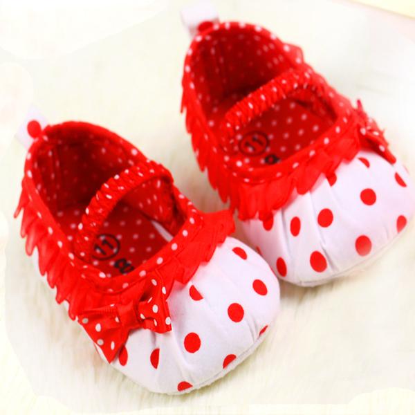 0-18month рождения девочки обувь мода точка с бантом кружева детская обувь малыша ...